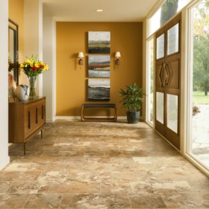 Armstrong Flooring Athenian Travertine Engineered Tile  Honey Onyx