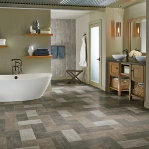 Armstrong Flooring Enchanted Forest Engineered Tile  Forest Fog