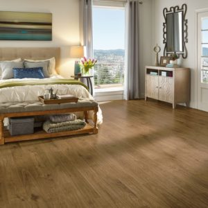 Armstrong Flooring Urban Walnut Laminate  Scraped Natural